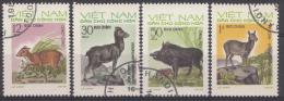 VIETNAM MI.NR. 731-734 DIEREN  TIERE  USED / GEBRUIKT / OBLITERE 1973 - Vietnam