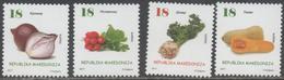 MACEDONIA, 2017, MNH, VEGETABLES, ONIONS, SQUASH, TURNIPS, 4v - Vegetables