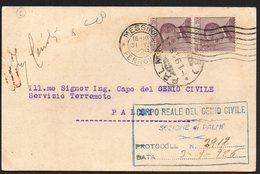ITALY ITALIA ITALIEN 1926. POSTCARD CARTOLINA POSTALE, FERROVIA MESSINA PALMI - Italia