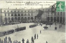 """CARTE PHOTO DE VERSAILLES  (YVELINES)  FUNERAILLES DES VICTIMES DE LA CATASTROPHE DU DIRIGEABLE """"LA REPUBLIQUE"""". 1909 - Versailles"""