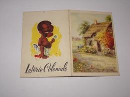 Calendrier Loterie Coloniale De 1953. - Calendars