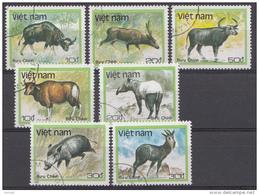VIETNAM MI.NR. 1981-1987 DIEREN  TIERE  USED / GEBRUIKT / OBLITERE 1988 - Vietnam
