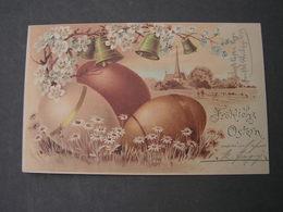 Ostern Karte   Super Stempel Ffm Sachsenhausen ,  1901  Reichspost - Ostern