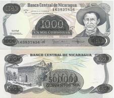 Nicaragua 500.000 Cordobas On 1000 1987. UNC P-150 - Nicaragua