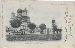 CPA - SALUTARI DIN ROMANIA - MONASTIREA CURTEA DE ARGES - Roumanie