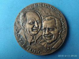PRESIDENTI STATI UNITI Richard M. Nixon - Mao Tse Tung 1972 - Monarchia/ Nobiltà