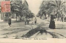 - Dpts Dv -ref-AE428- Corse Du Sud - Ajaccio - Avenue Des Palmiers - Carte Bon Etat - - Ajaccio