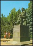 UKRAINE (USSR, 1985). YALTA. MONUMENT TO ANTON CHEKHOV, WRITER. Unused Postcard - Monuments