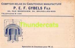 CPA PUB COMPTOIR BELGE DU CAOUTCHOUC MANUFACTURE P E F GYBELS BRUXELLES - Ambachten