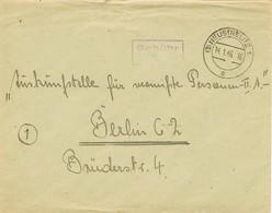 30440. Carta Franquicia NEUSTRELITZ (Mecklenburg Strelitz) 1946  Zona Ocupation Alemania  PAGADO. Gebühr Bezahlt - American/British Zone