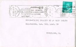 30441. Carta BARCELONA 1981. Rodillo Especial SONIMAG 9, Salon Imagen Y Sonido - 1931-Hoy: 2ª República - ... Juan Carlos I