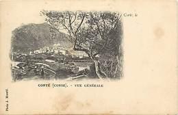 - Dpts Dv -ref-AE424- Haute Corse - Corte - Vue Generale  - Carte Bon Etat - - Corte