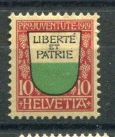 9537 SUISSE N°174 *  Pour La Jeunesse : Armoirie De Canton 10c. Vaud   1919  B/TB - Unused Stamps