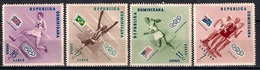 República Dominicana 1957 - Winning Athletes Stamps Of 1957 Overprinted CENTENARIO LORD BADEN-POWELL, 1857-1957 And Surc - Dominicaine (République)