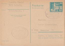 """3 191 DDR-Postkarte Bahnpost """"LEIPZIG-GERA"""" 1982 - DDR"""