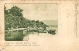 GRECE ENTIER POSTAL CORFOU VUE DU VILLAGE D'YPSOS - Greece