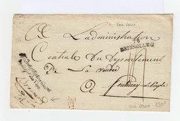 Marque Postale 78 Brignolles Sur Enveloppe De L'Administration Ctrale Du Dépt Du Var En Cursive. Cachet Dépt (845) - Marcophilie (Lettres)