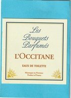 L'OCCITANE  Petit Livret   Booklet  **  Les Bouquets Parfumés ** 2 Scans - Perfume Cards