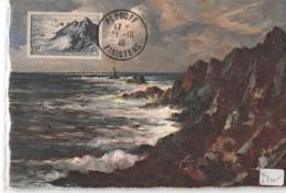 29 - Finistère / CM-46-18 - Carte Maximum - Oblitération D'époque Avec Timbre Concordant - Plogoff - Plogoff