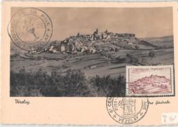51 - Marne / CM-46-28 - Carte Maximum - Oblitération D'époque Avec Timbre Concordant - Vézelay - Autres Communes