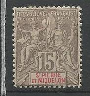 SPM N° 74 NEUF* TRACE DE CHANIERE / MH / Signé CALVES / - St.Pierre Et Miquelon