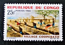 VILLAGE COOPERATIF 1966 - NEUF ** - YT 181 - MI 85 - Congo - Brazzaville