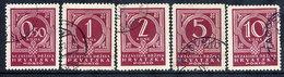 CROATIA 1941 Postage Due Set Of 5, Used.  Michel Porto 6-10 - Croatia