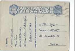 AG1913  FRANCHIGIA FOGGIA 17° FANTERIA X MILANO - 1900-44 Vittorio Emanuele III