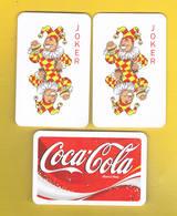 (044) - 2 Cart Joker, CocaCola - (voir Scaner) - Cartes à Jouer Classiques