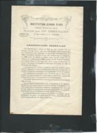 Brochure De 4 Pages Sur L'institution Jeanne D'Arc à Angers En 1813 , Tarifs Pour Les Elèves Extrait Du Reglement Aoa184 - Documents Historiques