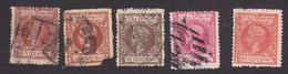 Cuba, Scott #156, 157, 163, 165, 168, Used, King Alfonso XIII, Issued 1898 - Cuba (1874-1898)