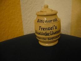 Org. Löwensenf-Topf Mit Deckel Und Löffel (671) - Porzellan & Keramik