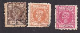 Cuba, Scott #163-165, Used, King Alfonso XIII, Issued 1898 - Cuba (1874-1898)