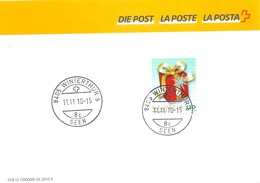 "Post Form 019.12  ""Grusskarte""  Winterthur 5 See           2010 - Switzerland"