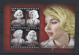 (lot 192 -B 4) Gambie ** N° 4824 à 4827 En Petite Feuille -  Marilyn Monroe - - Cinéma