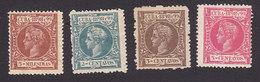 Cuba, Scott #160, 162-163, 165, Mint Hinged, King Alfonso XIII, Issued 1898 - Cuba (1874-1898)