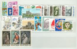 San Marino 1982 Annata Completa/Complete Year MNH/** - San Marino