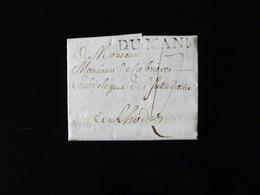 LETTRE DU MANS AVEC SCEAU DE L'EVEQUE DE NOYON  -  1780  - - Marcofilie (Brieven)