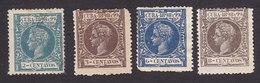 Cuba, Scott #162-163, 166-167, Mint Hinged, King Alfonso XIII, Issued 1898 - Cuba (1874-1898)