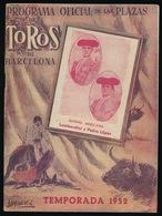 PROGRAMA OFFICIA DE LAS PLAZAS DE TOROS DE BARCELONA - TEMPORADA 1952 - 32 PAGES - 8 SCANS - Programs