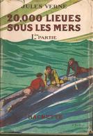 VERNE - 20 000 LIEUES SOUS LES MERS - 2 TOMES - HACHETTE - 1943 - Jaquettes - Livres, BD, Revues