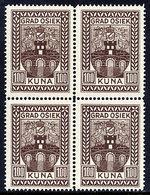 CROATIA Fiscal Stamps For Municipality Of Osijek 100 Kuna Block Of 4 MNH / ** - Croatia