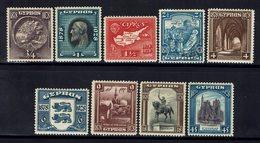 CHYPRE - 1928 - N° 106 à 114 - Neufs - X - Traces De Charnières Propres - B/TB - - Cyprus (...-1960)