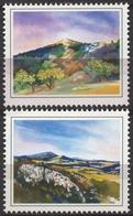 Tree Trees Mountain Wood Forrest Balkan Panorama FLORA -  LABEL CINDERELLA VIGNETTE - 1995 Yugoslavia Serbia - Geography