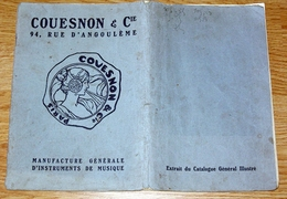 Publicité Couesnon Instruments De Musique Monopole Fabriques à Paris / Château Thierry - Musical Instruments