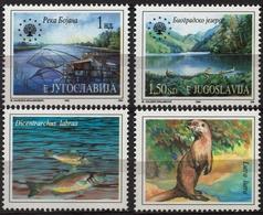 River BOJANA Montenegro Fish Lutra Otter - Europan Nature Protection LABEL CINDERELLA VIGNETTE 1994 Yugoslavia - Environment & Climate Protection
