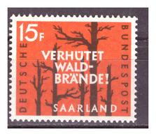 SAAR/SARRE -  1958 - PREVENZIONE INCENDI BOSCHIVI. -  MNH** - 1957-59 Federazione