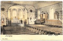 D 57 . CPA Colorisée . LOUVIGNY . Interieur De L'Eglise  . - Other Municipalities