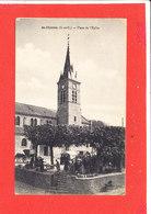 91 SAINT CHERON Cpa Animée Marché Place De L ' Eglise Edit Thiriat - Saint Cheron