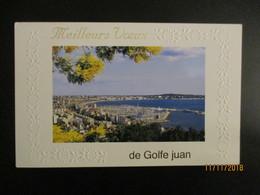 06-Golfe-Juan   VOEUX  De Golfe Juan  13,5 X 8,5 Cm- (VINTAGE)-  *  Envoi Groupé - New Year